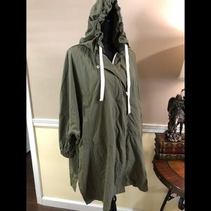 NWOT ZARA Basic military poncho